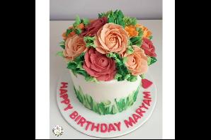 Buttercream Flower Cakes & Cupcakes