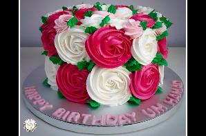 Cream Rose Cakes