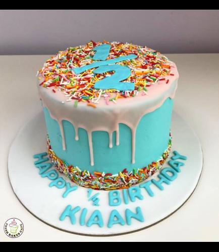 Babys 6 Months Birthday Celebration Themed Cake 01