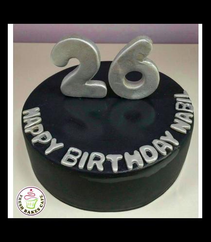 26th Birthday Themed Cake