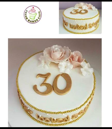 30th Birthday Themed Cake 01