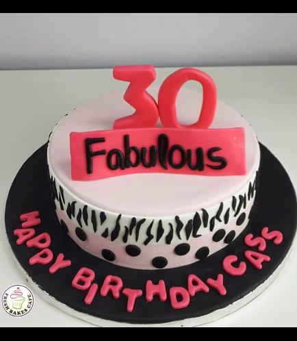 30th Birthday Themed Cake 02