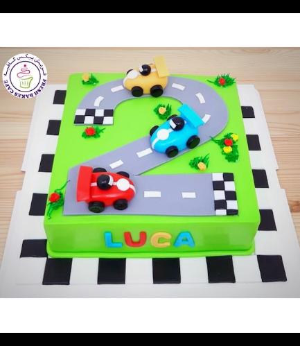 Car Themed Cake - Race Track - #02 - 03