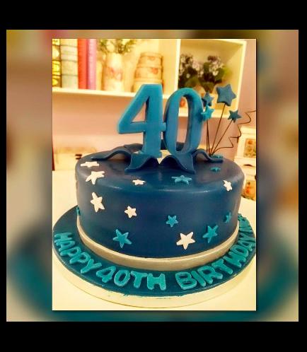 40th Birthday Themed Cake 01