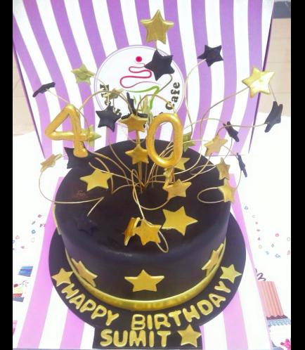 40th Birthday Themed Cake 02