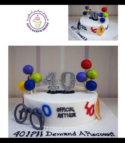 40th Birthday Themed Cake 03