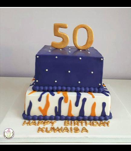 50th Birthday Themed Cake