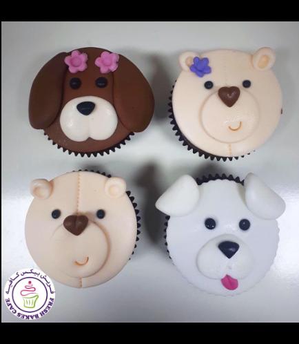 Bear & Dog Themed Cupcakes