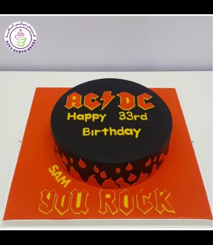 AC/DC Themed Cake