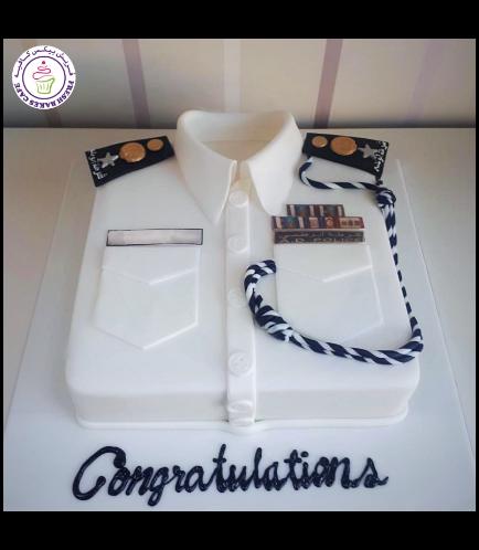 Cake - Abu Dhabi Police Uniform - White 02