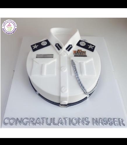 Cake - Abu Dhabi Police Uniform - White 04