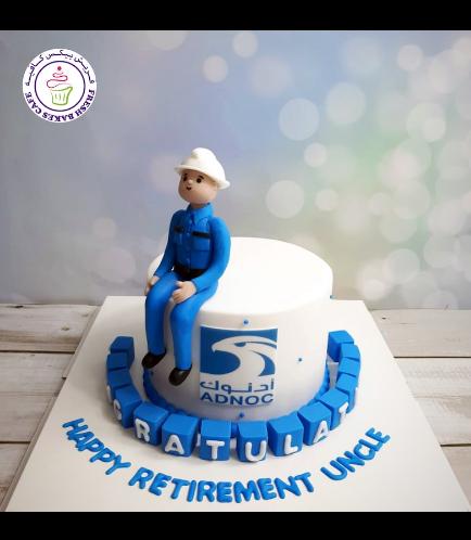 Man Themed Cake - 3D Character - ADNOC - Retirement