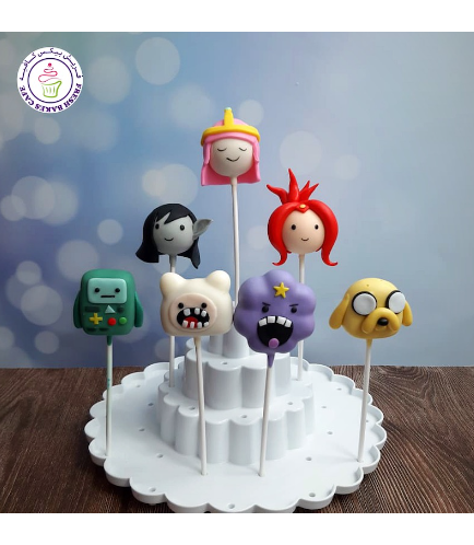 Adventure Time Themed Cake Pops