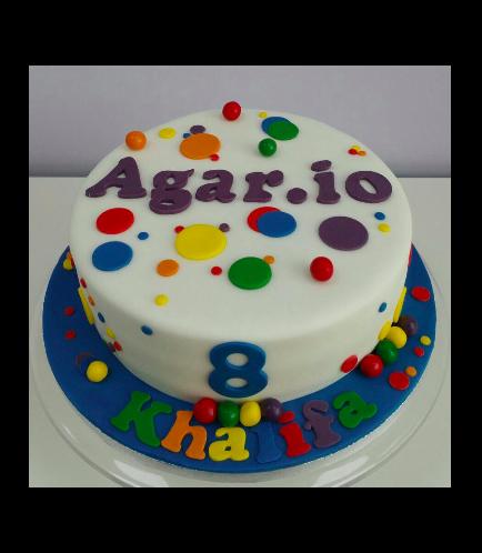 Agario Themed Cake