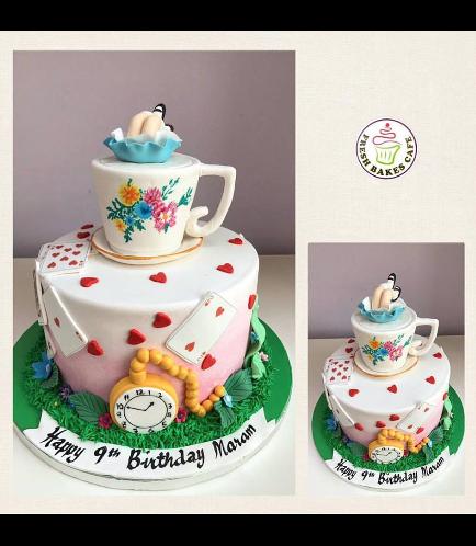 Alice in Wonderland Themed Cake 02