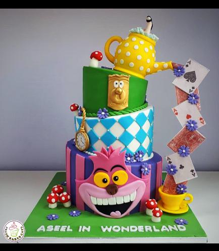 Alice in Wonderland Themed Cake 03