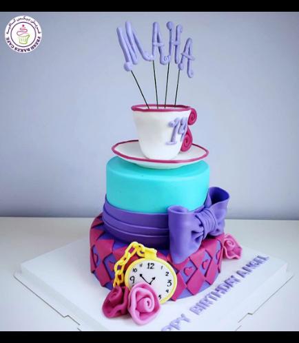 Alice in Wonderland Themed Cake 05b