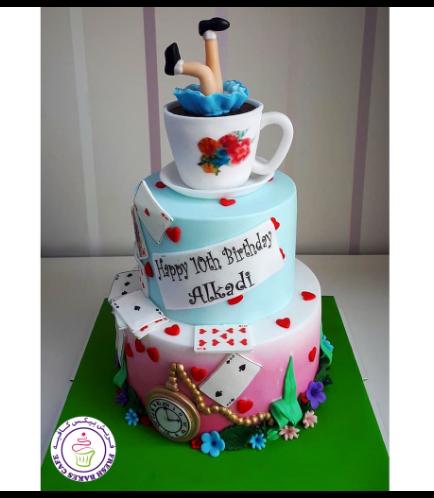 Alice in Wonderland Themed Cake 06