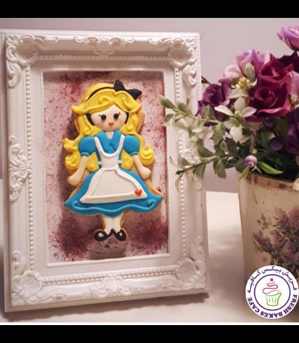 Alice in Wonderland Themed Cookie in Frame 02