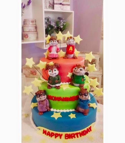 Alvin & the Chipmunks Themed Cake
