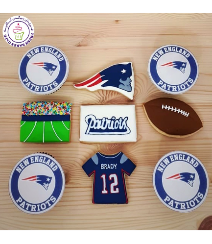 American Football Themed Cupcakes & Cookies - New England Patriots
