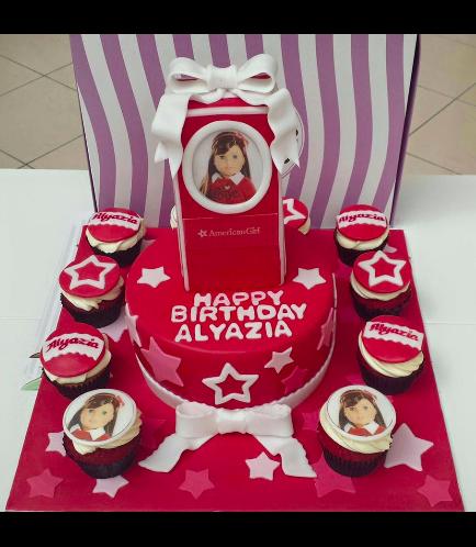 American Girl Doll Themed Cake