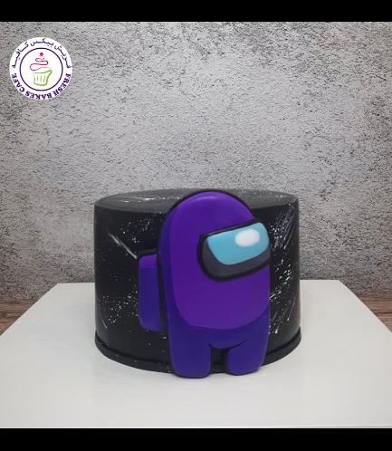 Among Us Themed Cake - 2D Cake Topper