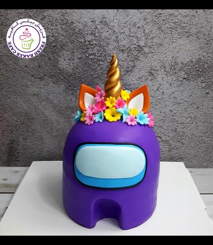 Among Us Themed Cake - 3D Cake - Unicorn