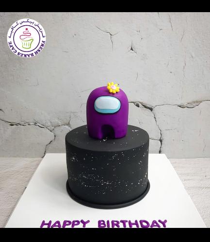 Among Us Themed Cake - 3D Cake Topper
