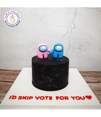 Among Us Themed Cake - 3D Cake Toppers 02
