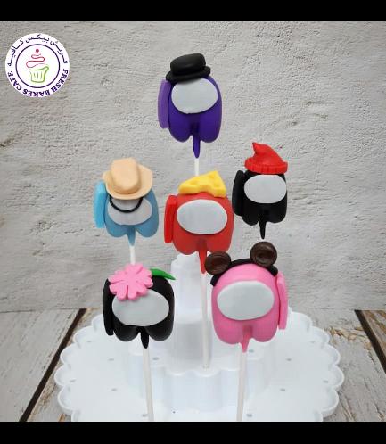 Among Us Themed Cake Pops 01