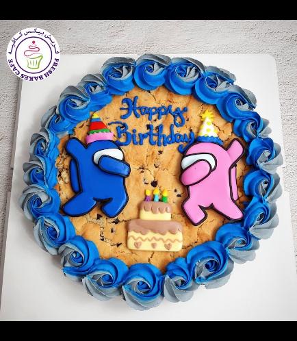 Among Us Themed Chocolate Chip Cookie Cake 03