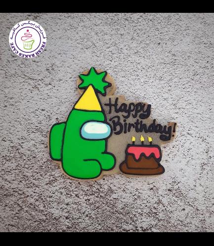 Among Us Themed Cookies - Birthday Cake 01a