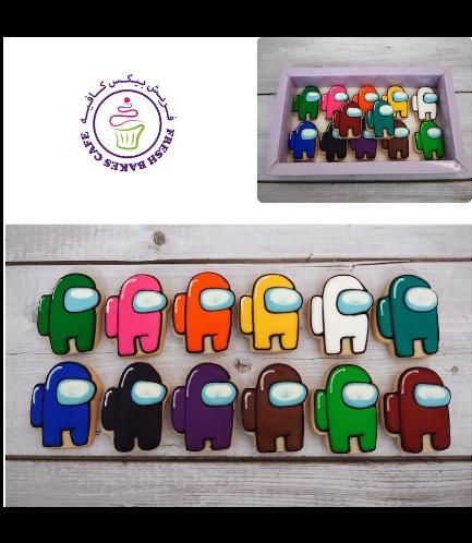 Among Us Themed Cookies - Mini Cookies Set
