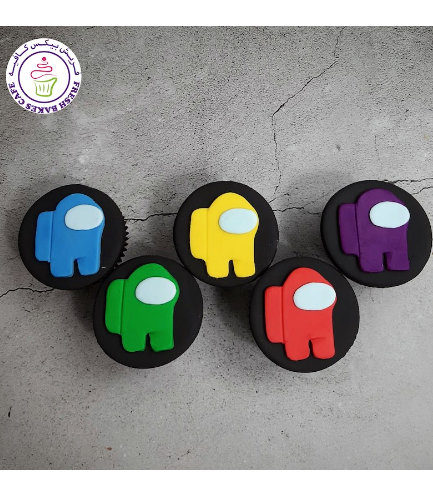 Among Us Themed Cupcakes - 2D Toppers