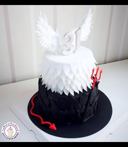 Angel & Devil Themed Cake 01b
