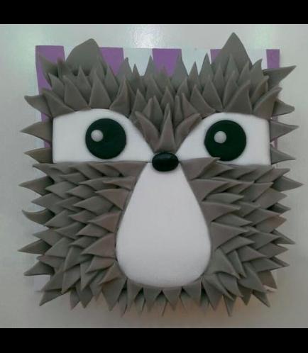 Hedgehog Themed Cake - 2D Cake