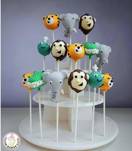 Jungle Animals Themed Cake Pops 06