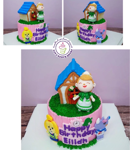 Animal Crossing Themed Cake - 2D & 3D Characters