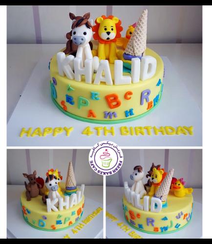 Animals Themed Cake - Jungle Animals 26