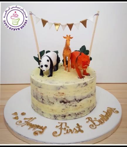 Animals Themed Cake - Jungle Animals - Toys