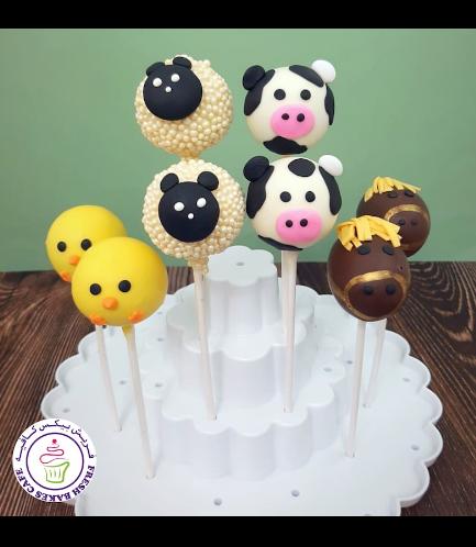 Animals Themed Cake Pops - Farm Animals