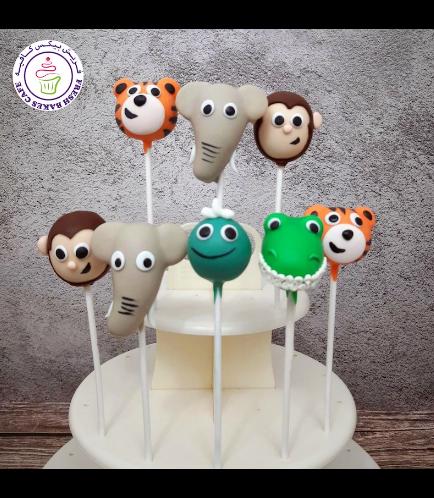 Animals Themed Cake Pops - Jungle Animals 03