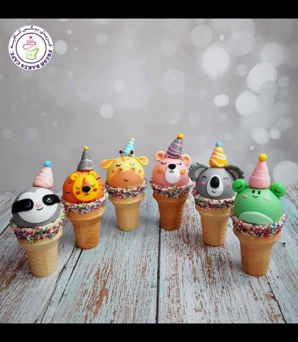 Cone Cake Pops - Party Hat - Animals - Jungle Animals