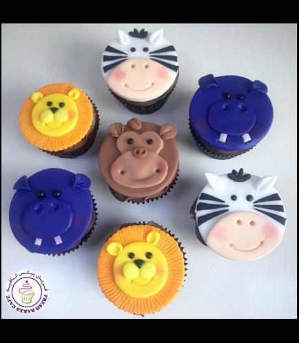 Animals Themed Cupcakes - Jungle Animals 01