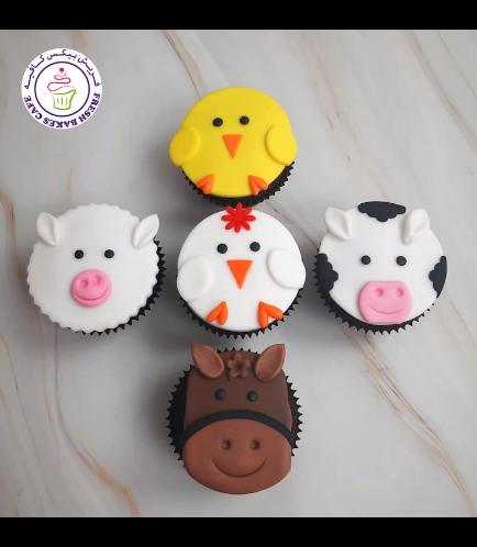 Animals Themed Cupcakes - Farm Animals 01