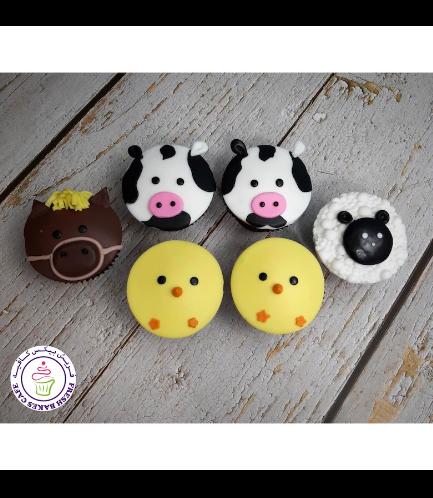 Animals Themed Cupcakes - Farm Animals 03