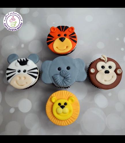 Animals Themed Cupcakes - Jungle Animals 03