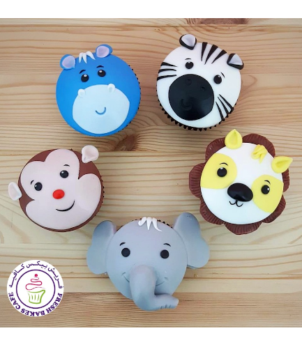 Animals Themed Cupcakes - Jungle Animals 05