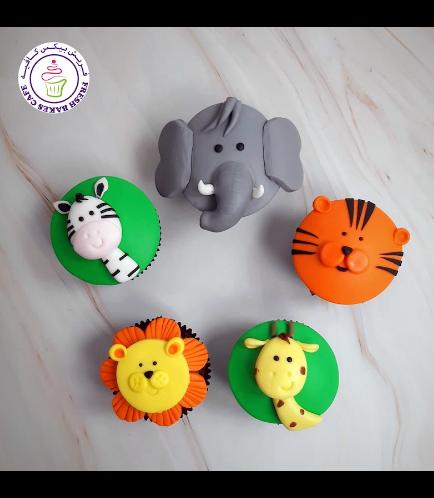 Animals Themed Cupcakes - Jungle Animals 07
